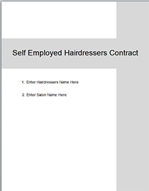 Self Employed Hairdresser Chair Rental Agreement