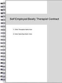 Self Employed Beauty Therapist S Room Rental Contract
